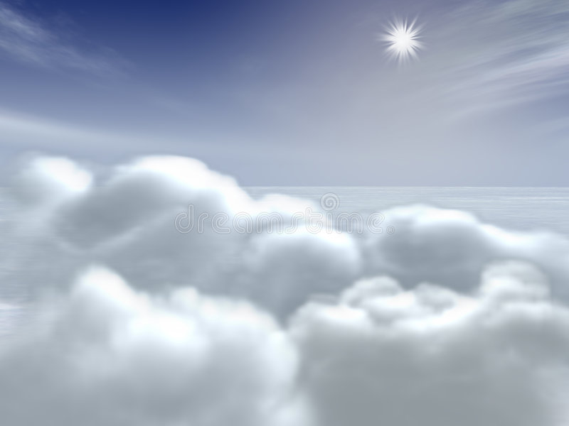 Wolken in de hemel royalty-vrije stock fotografie