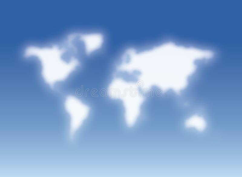 Wolken, die der Welt ähneln lizenzfreie abbildung
