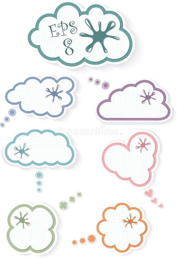 Wolken in een kooi, illustratie royalty-vrije illustratie