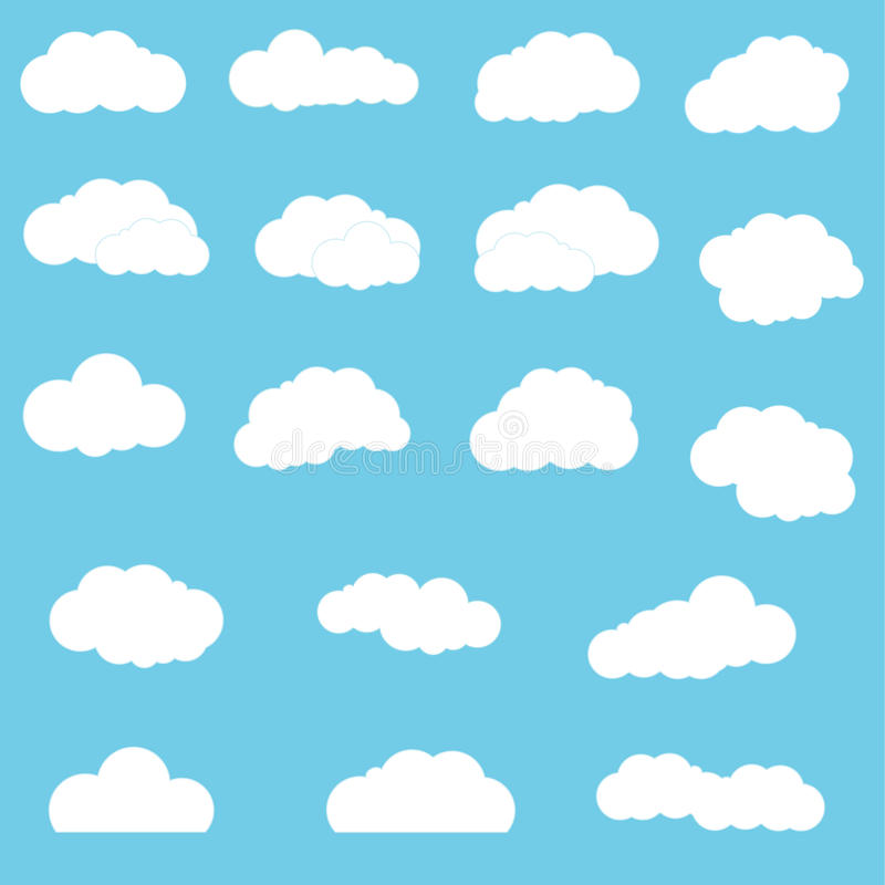 Wolken eingestellt stockfotos