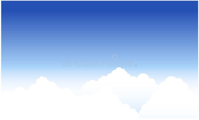 Wolken en blauwe hemel royalty-vrije illustratie