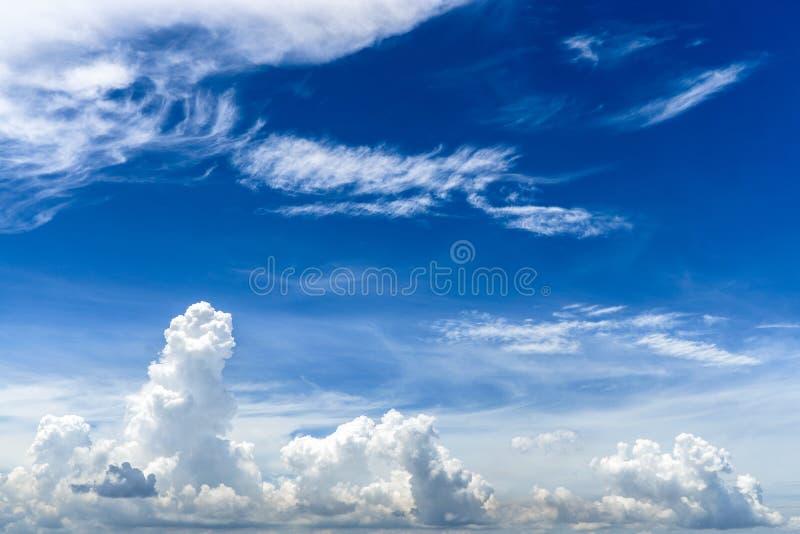 Wolken en Bly-Hemel voor Achtergrond stock fotografie