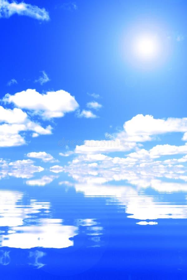 Wolken en golven 2 stock afbeelding