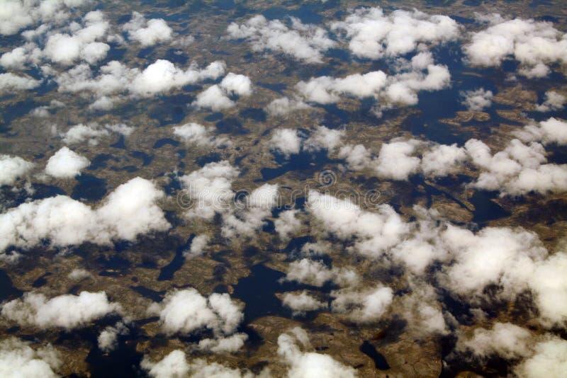 Wolken en schaduwen royalty-vrije stock afbeeldingen