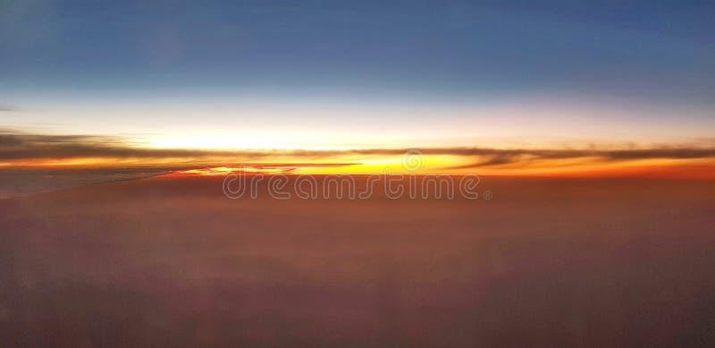 Wolken en Zonsondergang royalty-vrije stock foto's
