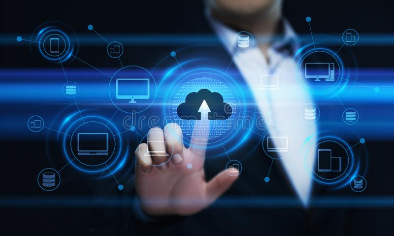 Wolken-Komputertechnologie-Internet-Speicher-Netz-Konzept stockbilder
