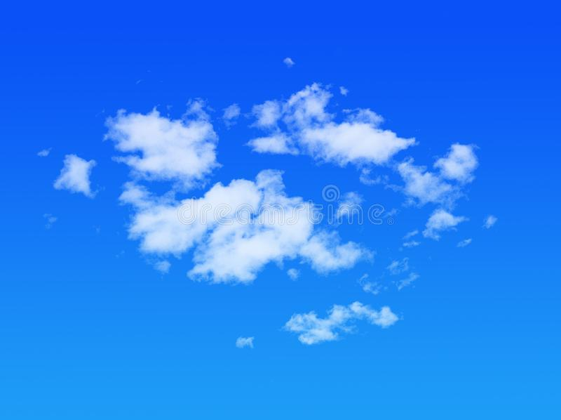 Wolken met blauwe hemel royalty-vrije stock fotografie