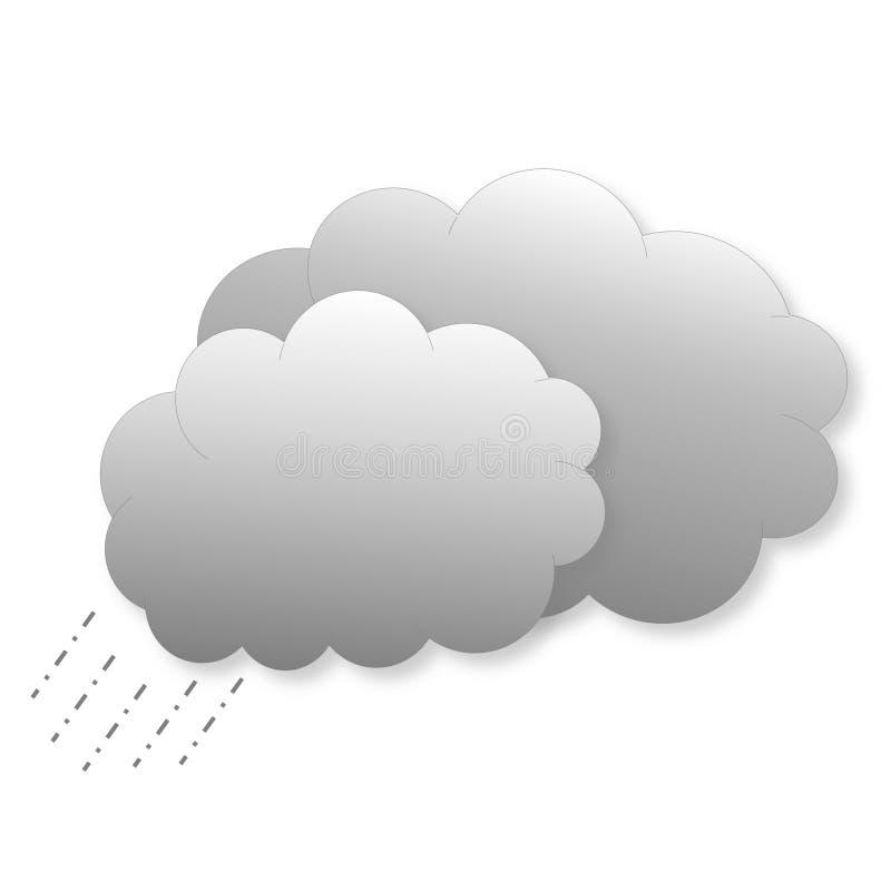 Wolken mit Regen als Wetterikone vektor abbildung