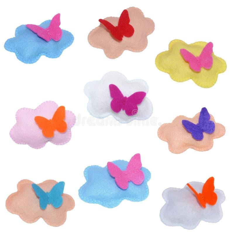 Wolken mit Schmetterling lizenzfreies stockfoto