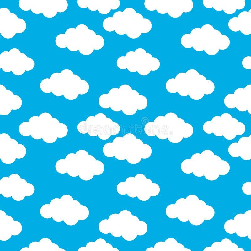 Wolken naadloos patroon royalty-vrije illustratie