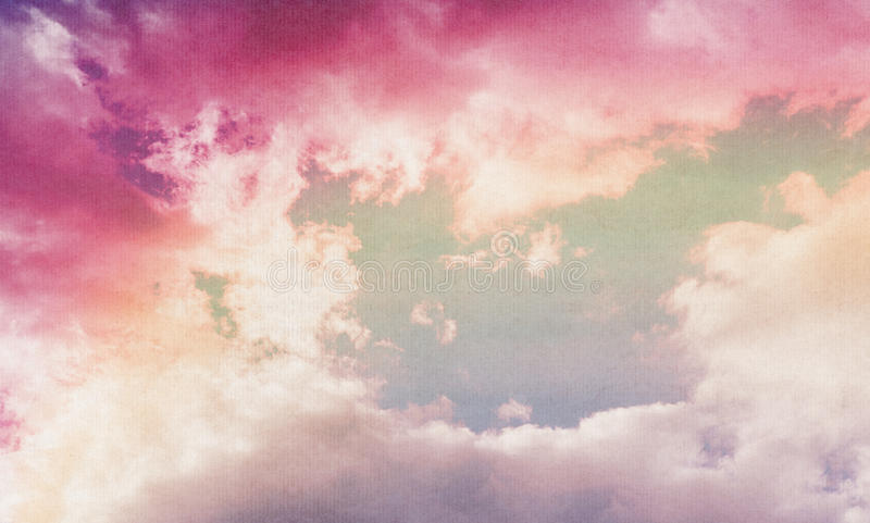 Wolken op geweven stock foto