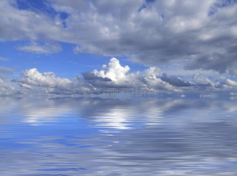 Wolken op Horizon royalty-vrije stock fotografie