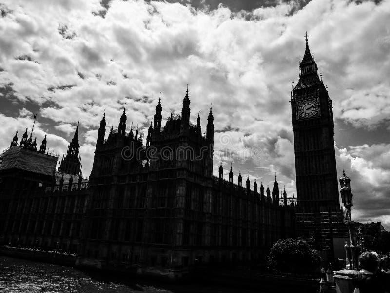 Wolken over Huizen van het Parlement in Londen (hdr) royalty-vrije stock fotografie