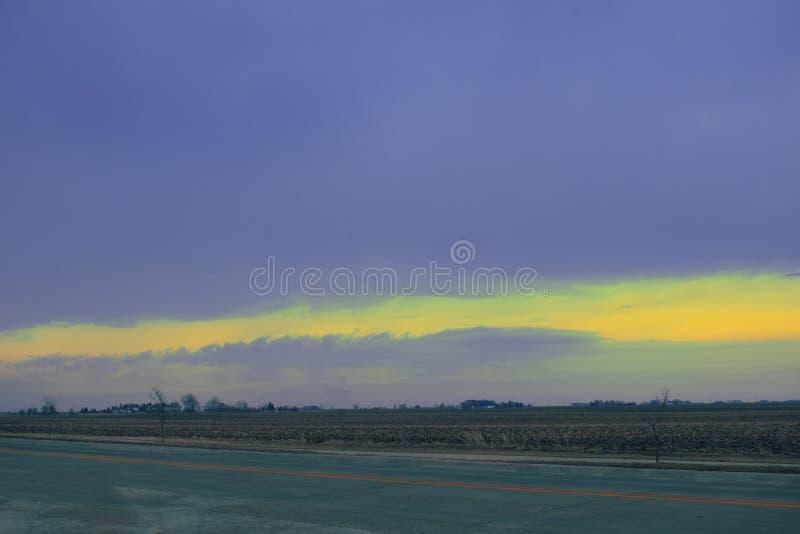 Wolken over meer royalty-vrije stock foto