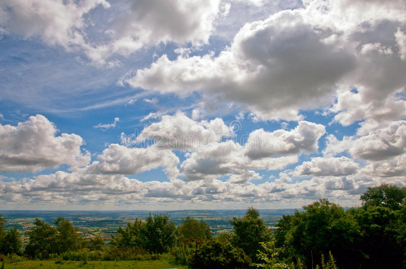 Wolken over Worcestershire royalty-vrije stock foto's