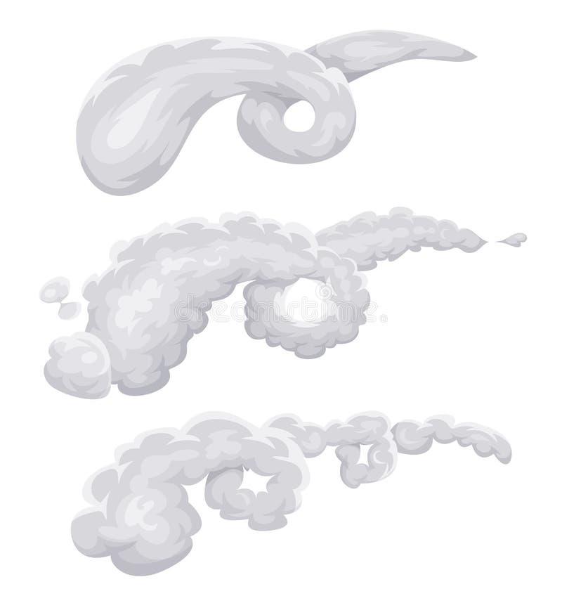Wolken-, Rauch-und Wind-Spirale vektor abbildung