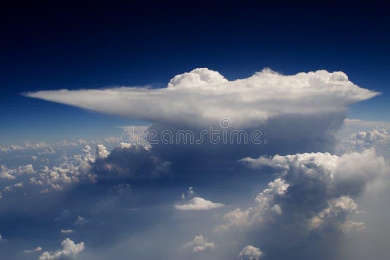 Wolken - sehen Sie von Flug 31 an lizenzfreie stockfotos