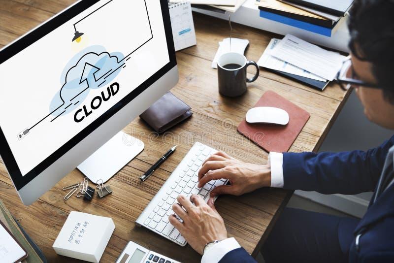 Wolken-Speicher-Informationssicherheit lizenzfreies stockbild