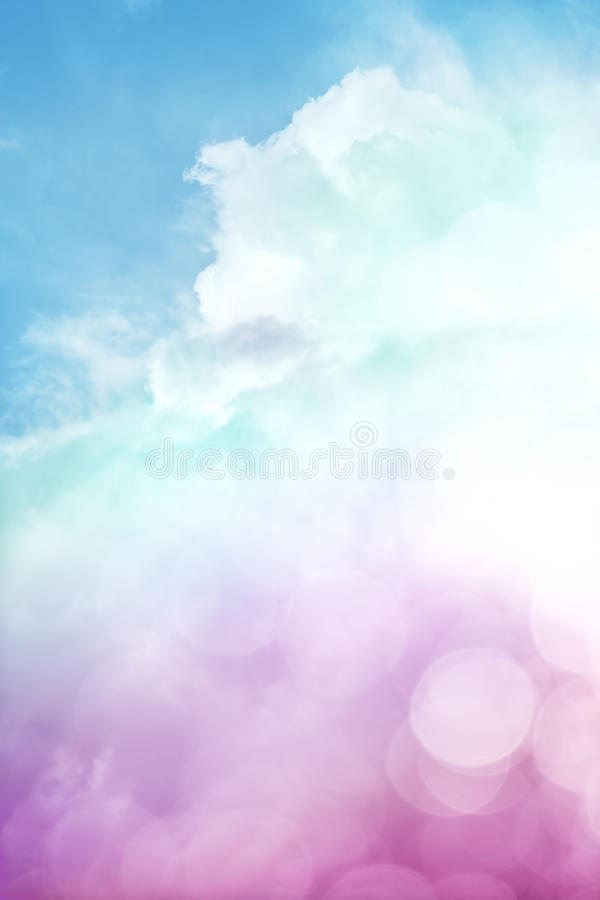 Wolken und Himmel Bokeh lizenzfreie stockbilder