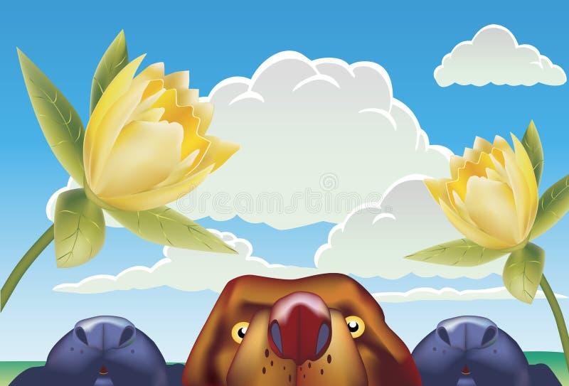 Wolken und Hunde vektor abbildung