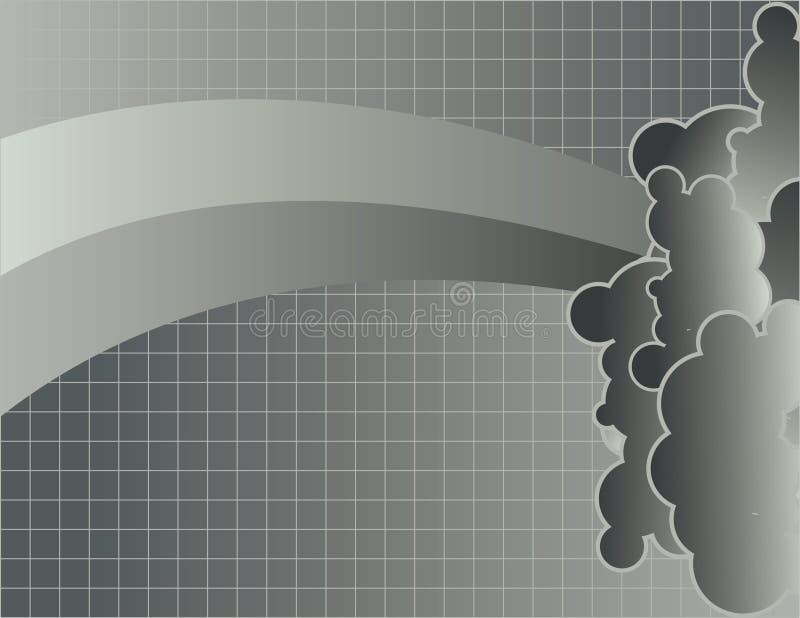 Wolken und Rasterfeld lizenzfreie abbildung