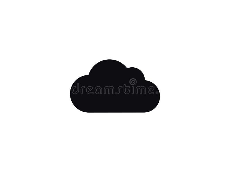 Wolken- und Wolkenspeichervektorikone stockfotografie