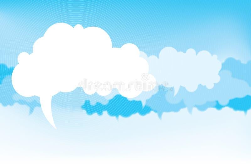 Wolken van Gedachte royalty-vrije illustratie