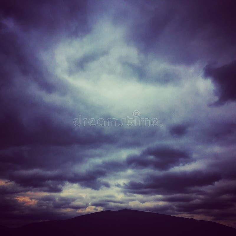 Wolken van verwarring royalty-vrije stock afbeelding