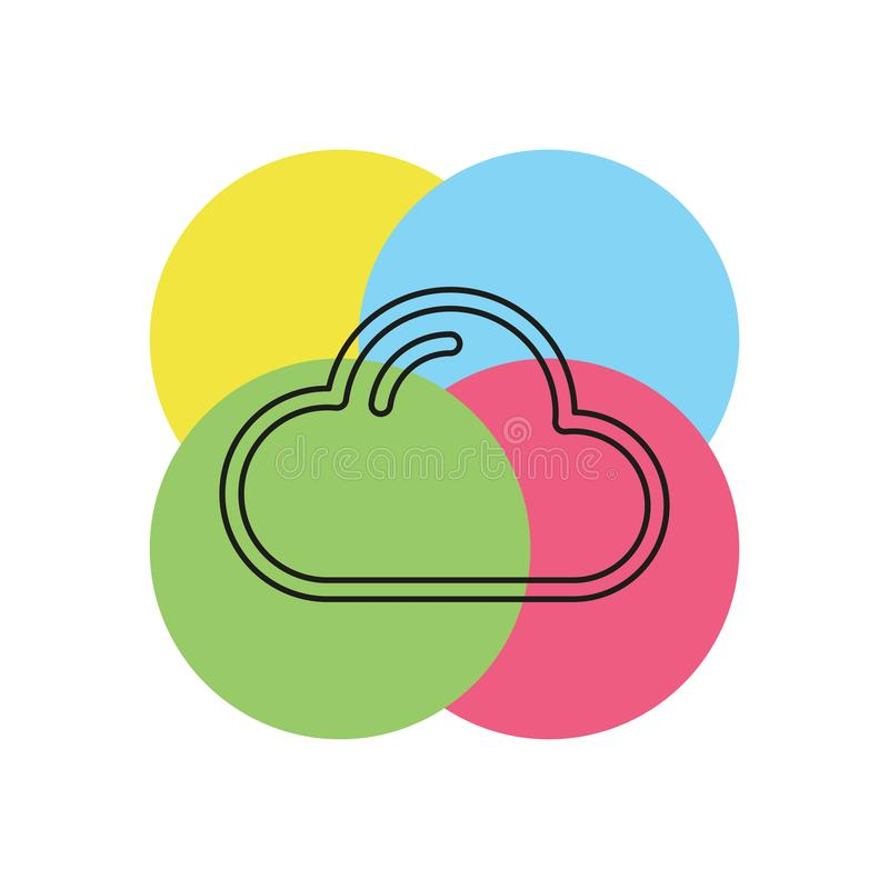 Wolken vectorpictogram stock illustratie