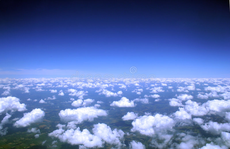 Wolken vom above& stockfotos