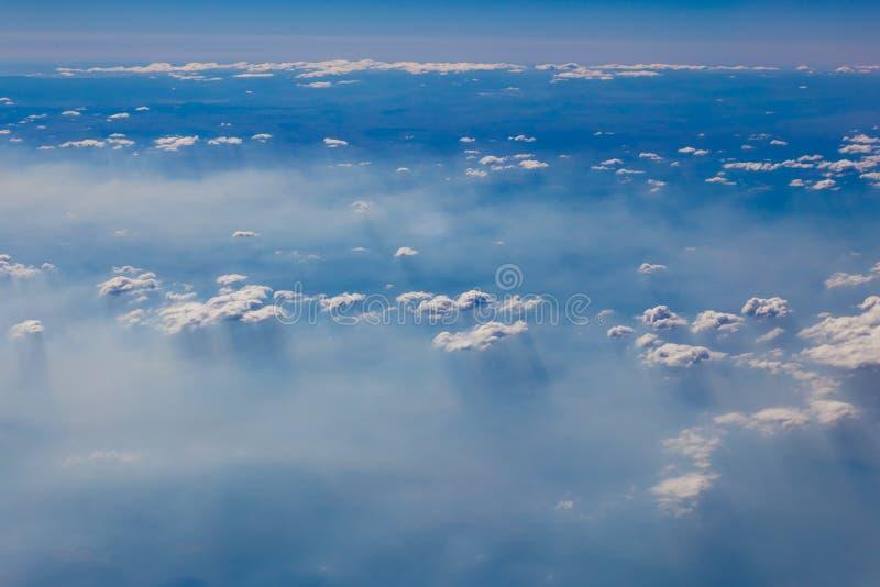 Wolken von oben lizenzfreies stockbild
