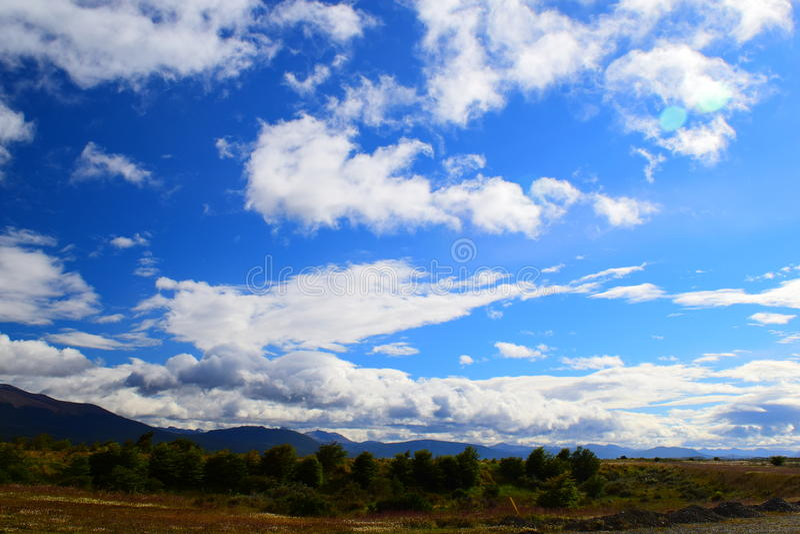 Wolken von Patagonia stockfoto
