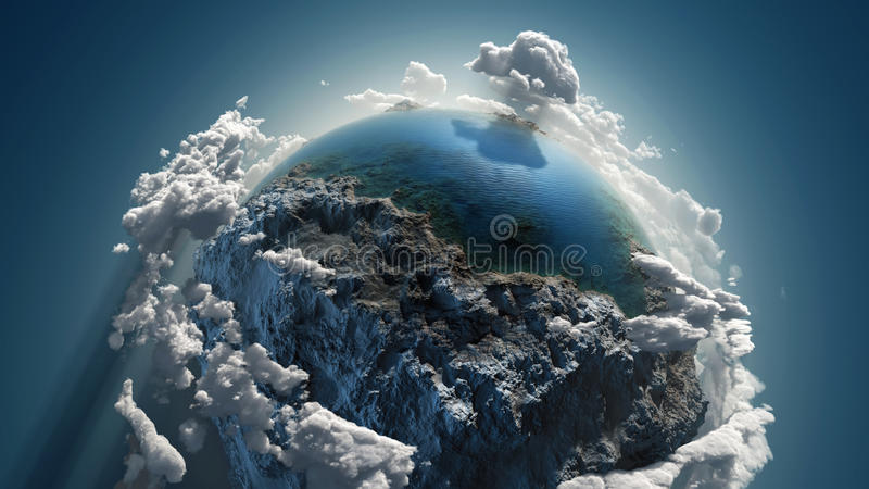 Wolkenaarde in ruimte royalty-vrije illustratie