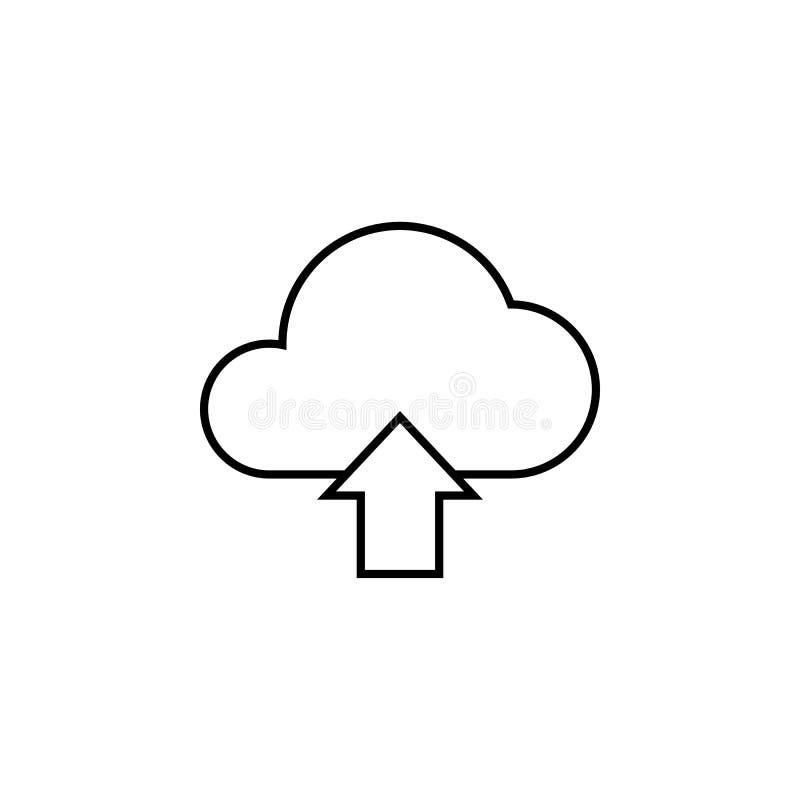 Wolkenantriebskraftlinie Ikone lizenzfreie abbildung