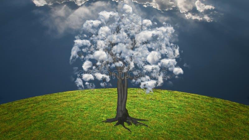 Wolkenboom vector illustratie
