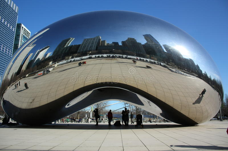 Wolkenboon Chicago royalty-vrije stock afbeelding