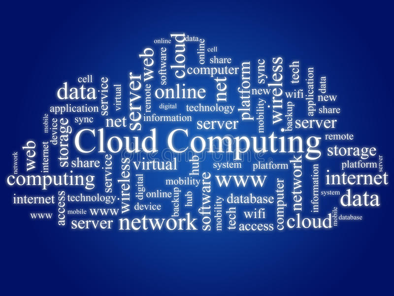Wolkendatenverarbeitung.