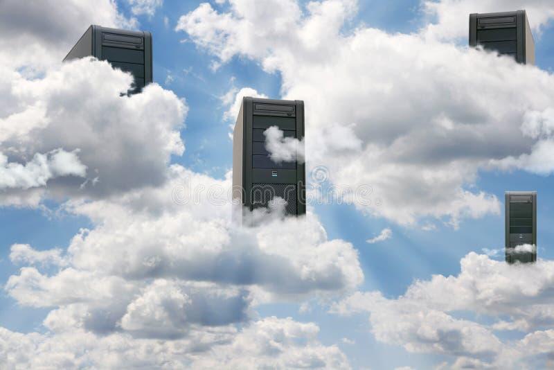 Wolkendatenverarbeitung lizenzfreies stockfoto