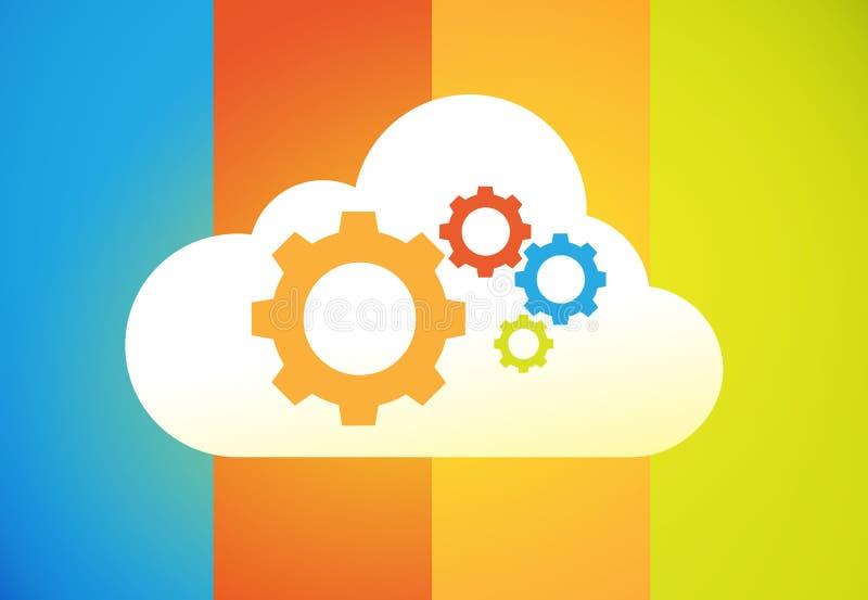 Wolkendatenverarbeitung stock abbildung