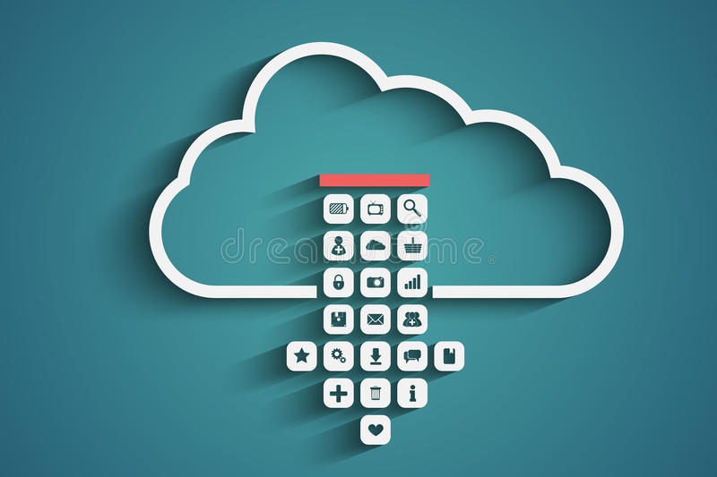 Wolkendownload vector illustratie