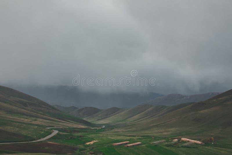 Wolkenfelder stockfoto