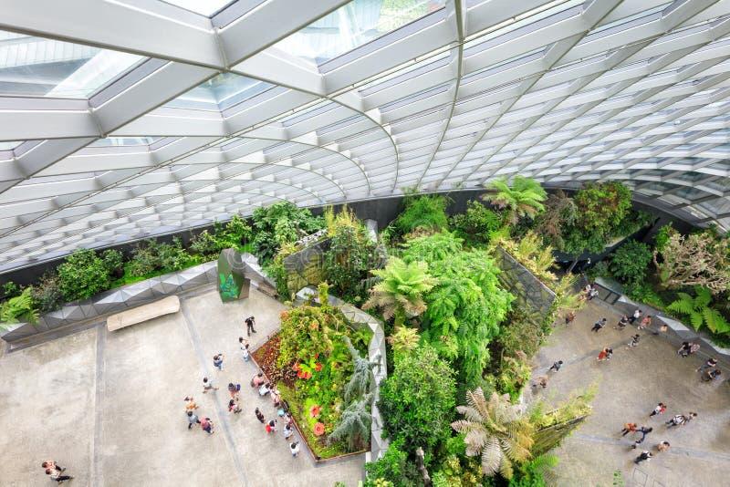 Wolkengartengewächshaus in Singapur stockfotos