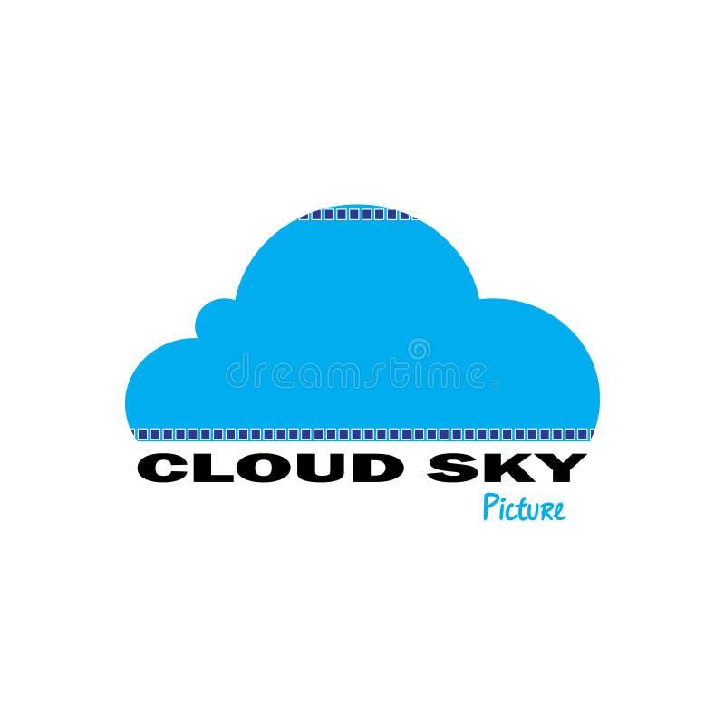 Wolkenhimmelbilder stock abbildung