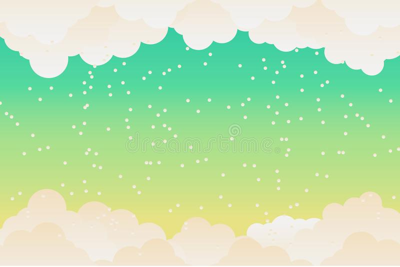 Wolkenhimmelhintergrund Wolke flach llustration Vektor Vektor Illust vektor abbildung