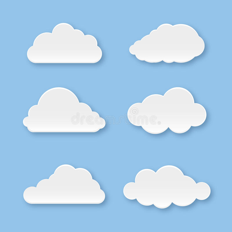 Wolkeninzameling royalty-vrije stock afbeelding