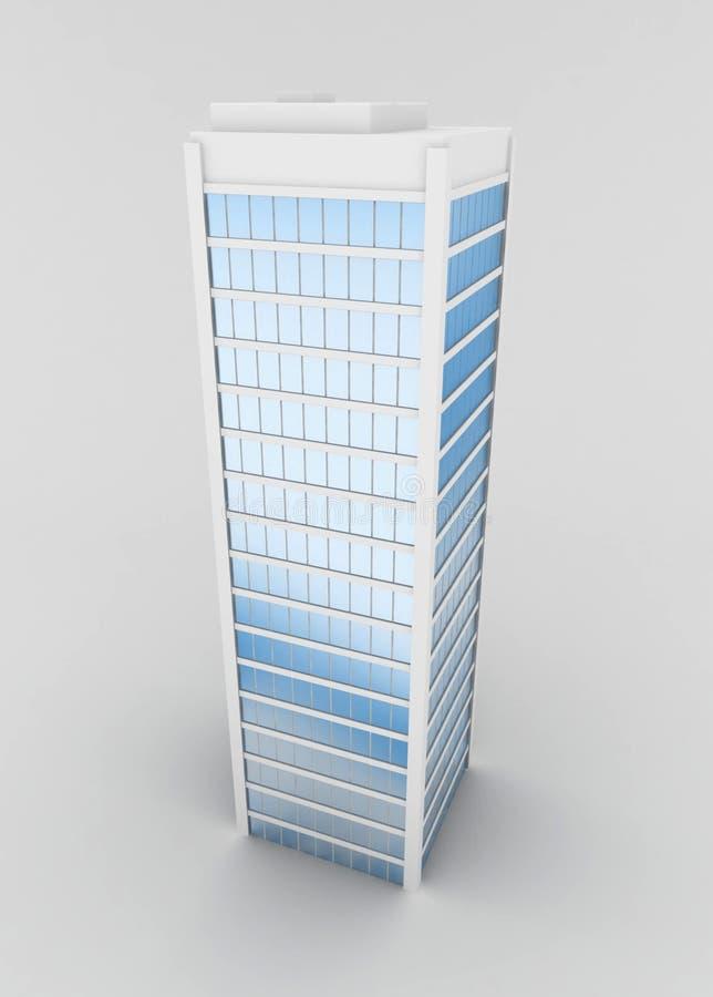 Wolkenkrabber stock illustratie