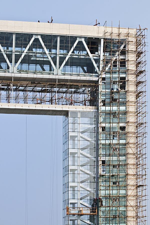 Wolkenkrabber in aanbouw, China royalty-vrije stock afbeelding