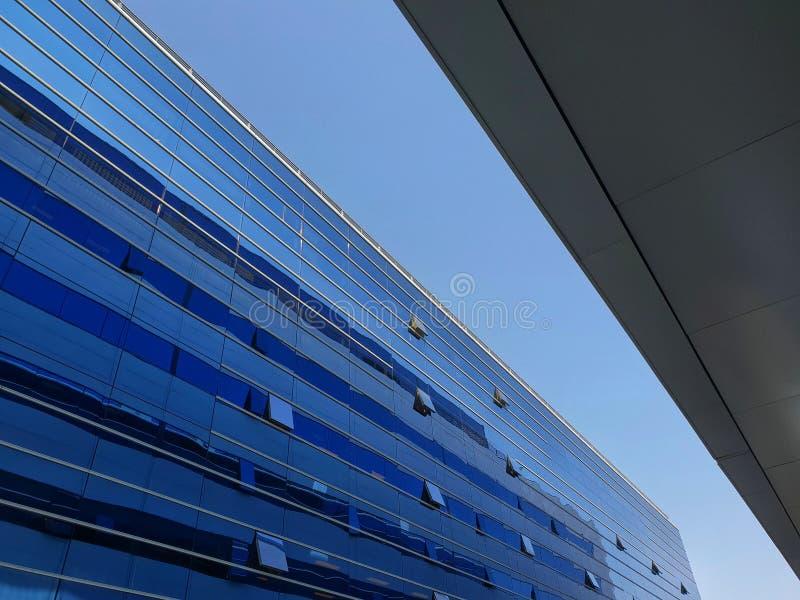 Wolkenkrabber Bedrijfsbureau, de Collectieve bouw royalty-vrije stock fotografie