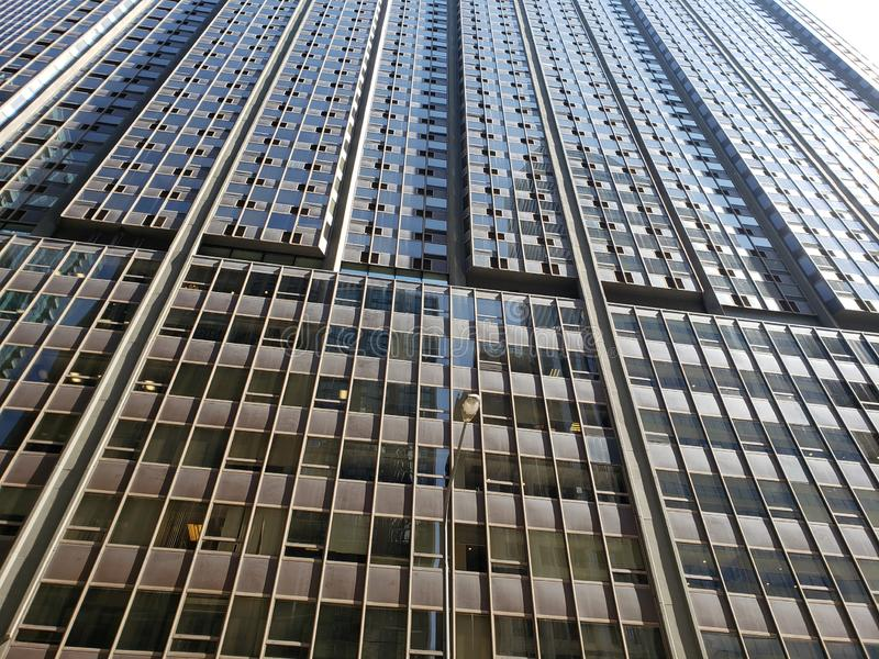 Wolkenkrabber Chicago van de binnenstad stock afbeelding