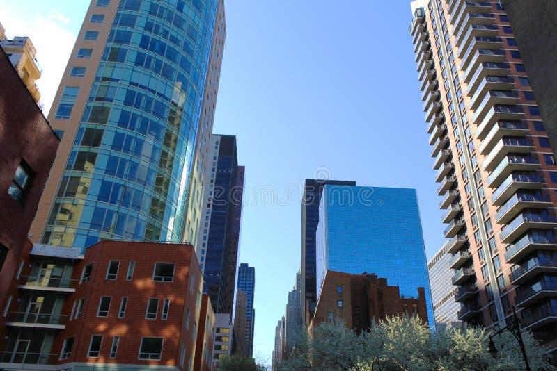 Wolkenkrabber in de Stad van New York royalty-vrije stock foto's